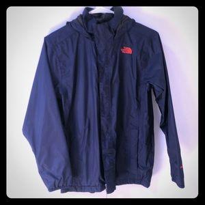 North Face Boys' Navy Blue Hooded Wind Breaker